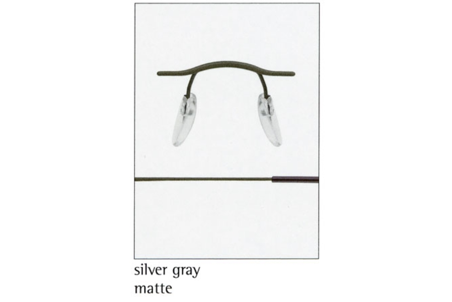 Silhouette 7626 (7799 Chassis) Eyeglasses in 6061 Silver Grey Matte