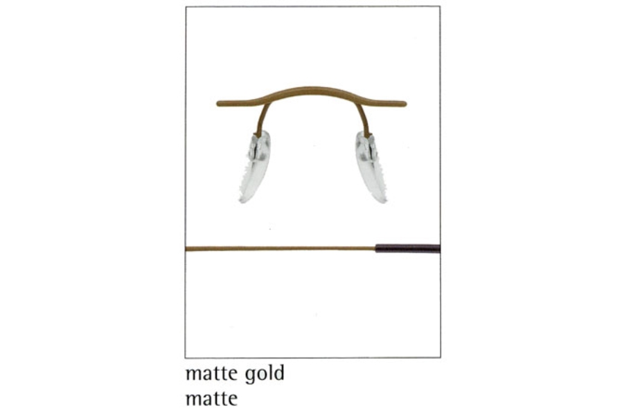 Silhouette 7626 (7799 Chassis) Eyeglasses in 6073 Matte Gold