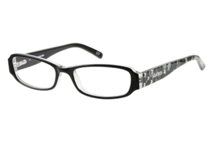 Skechers SK 2011 Eyeglasses in BLK: BLACK ON CRYSTAL