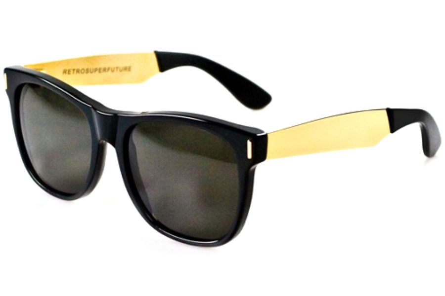 Super Basic Francis Black/Gold 202 Sunglasses in Super Basic Francis Black/Gold 202 Sunglasses