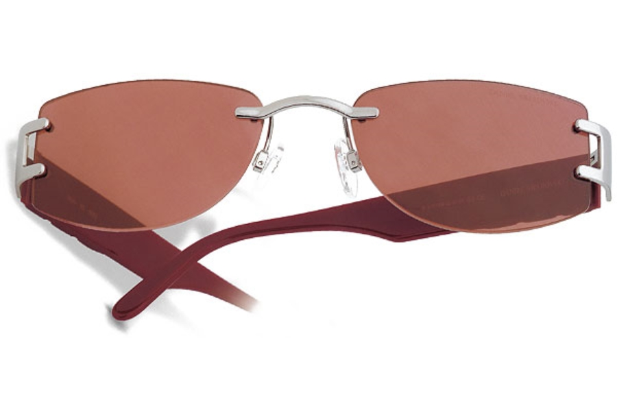 Swarovski S599 Sunglasses in 6052 Silver/Burgundy